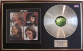THE BEATLES - Let It Be -  Platinum disc & cover